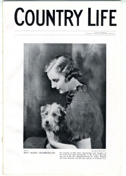 1935 COUNTRY LIFE Magazine DIANE CHAMBERLAIN MAXWELL 41 Chelsea Square (7891)